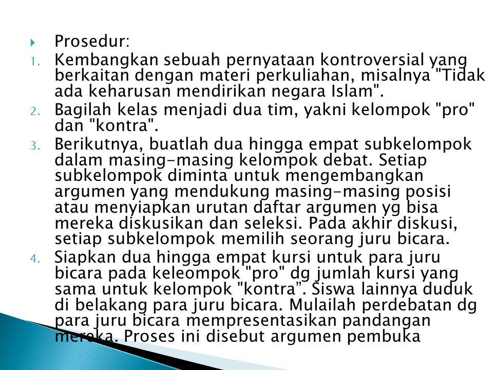 Prosedur: