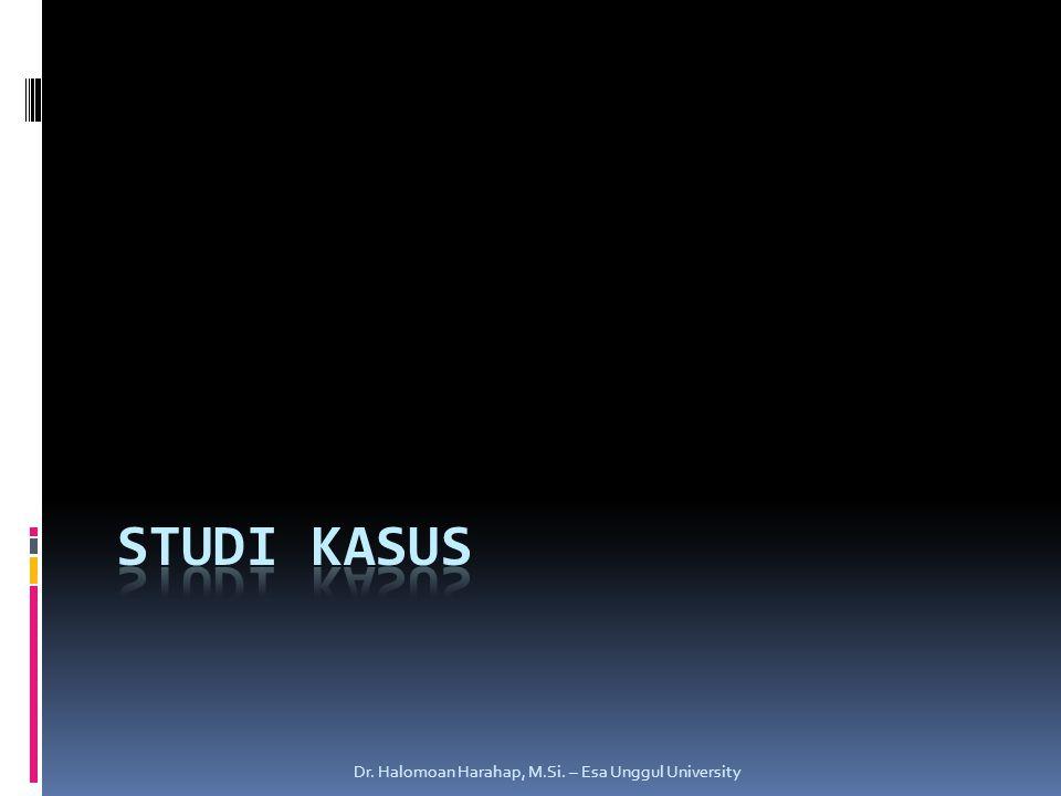 Studi Kasus Dr. Halomoan Harahap, M.Si. – Esa Unggul University