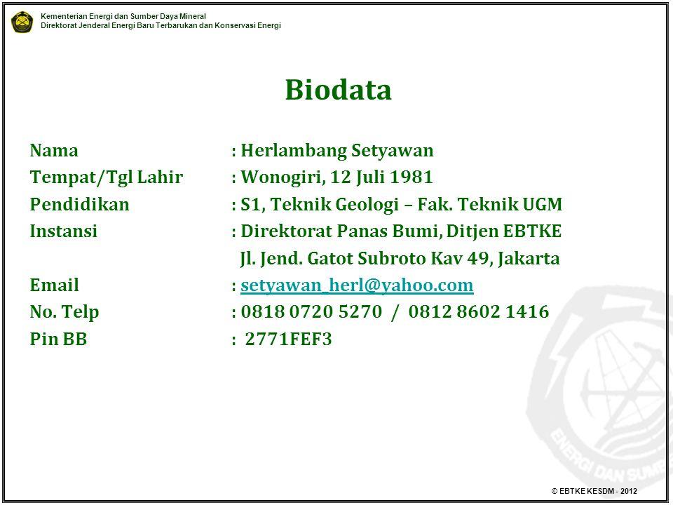 Biodata Nama : Herlambang Setyawan