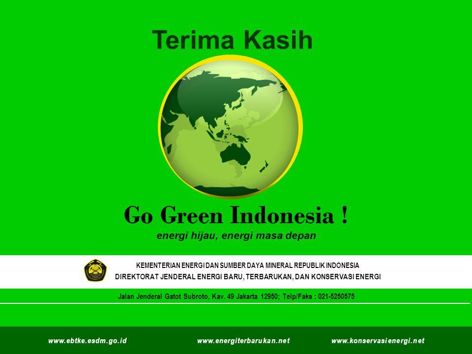 Terima Kasih Go Green Indonesia ! ` energi hijau, energi masa depan