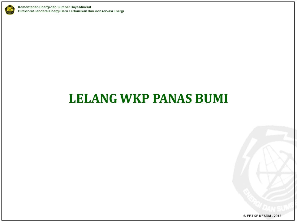 LELANG WKP PANAS BUMI