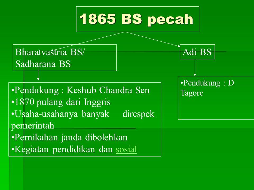 1865 BS pecah Bharatvastria BS/ Sadharana BS Adi BS