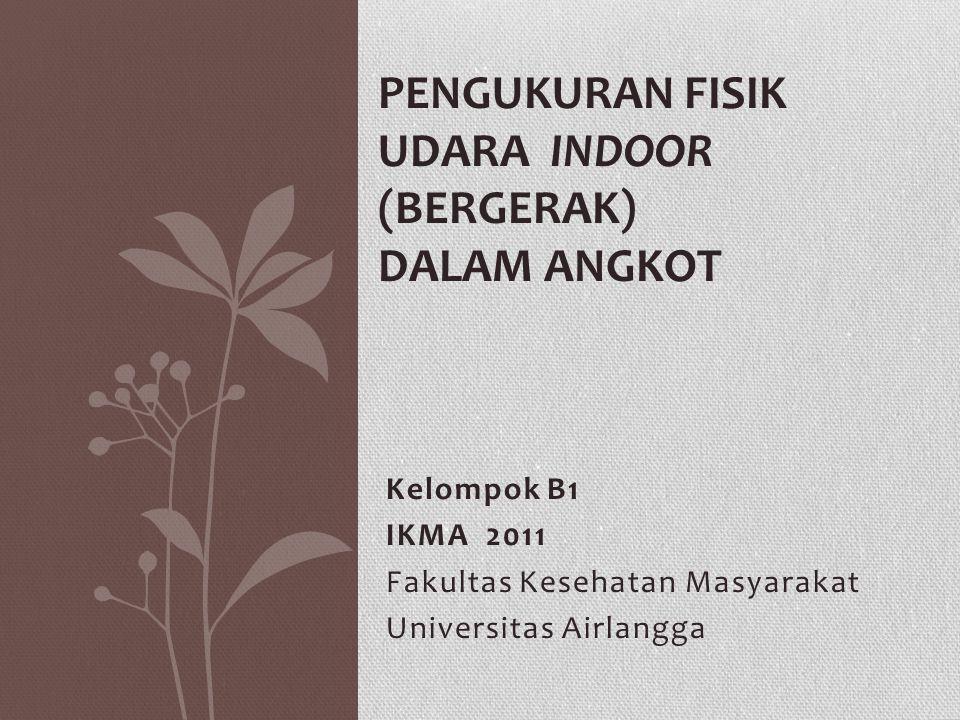 Pengukuran Fisik Udara Indoor (Bergerak) Dalam Angkot