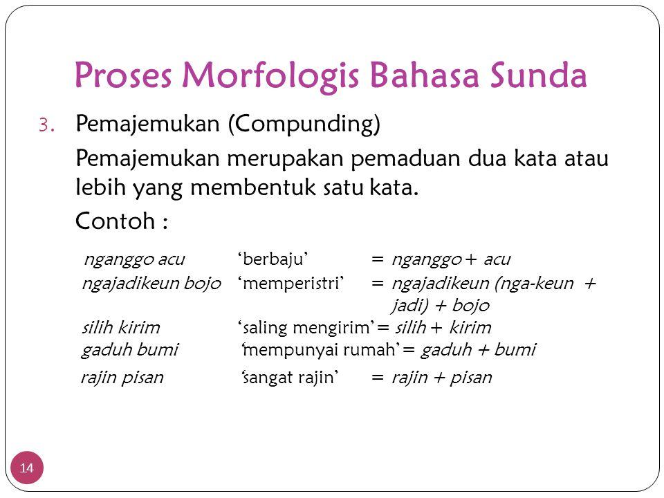 Proses Morfologis Bahasa Sunda