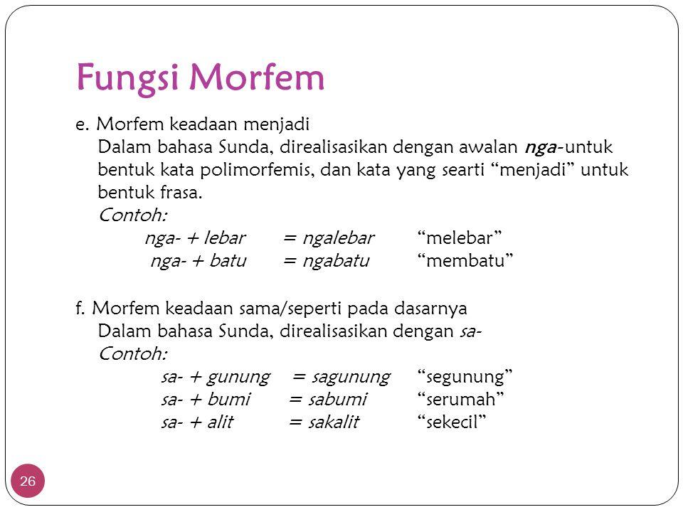 Fungsi Morfem