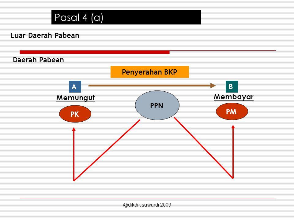 Pasal 4 (a) Luar Daerah Pabean Daerah Pabean Penyerahan BKP A B