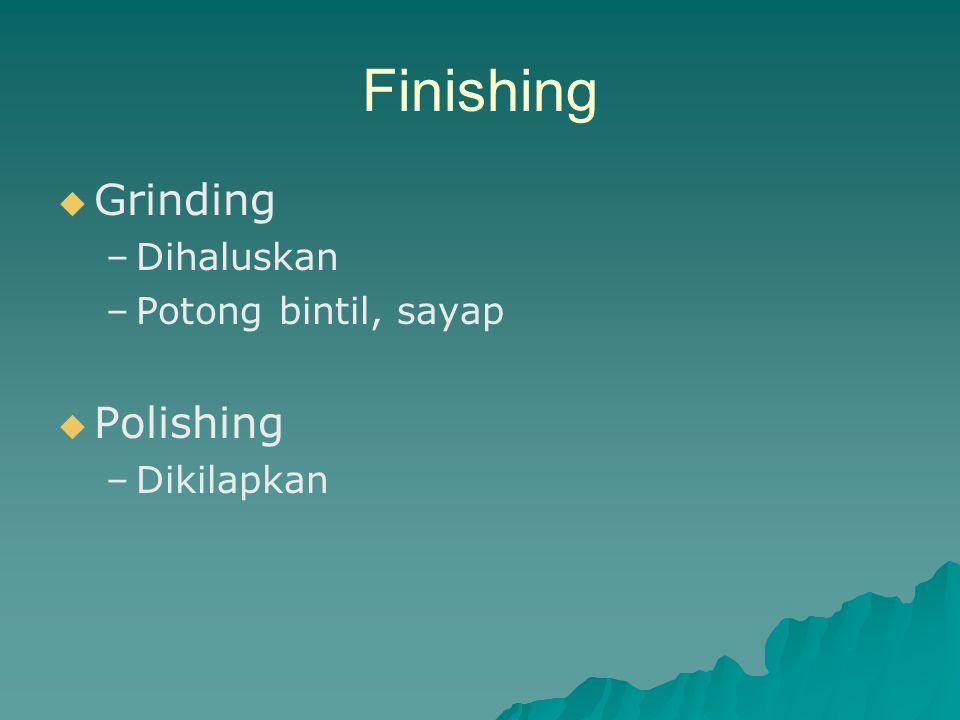 Finishing Grinding Polishing Dihaluskan Potong bintil, sayap