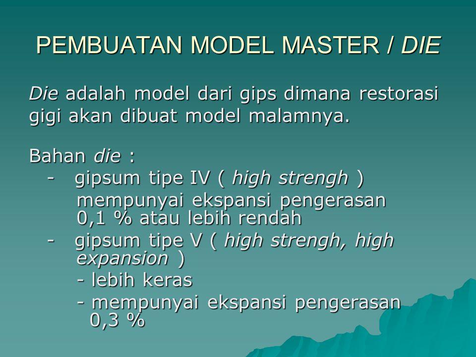 PEMBUATAN MODEL MASTER / DIE