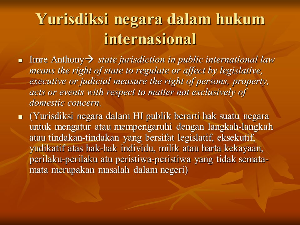 Yurisdiksi negara dalam hukum internasional