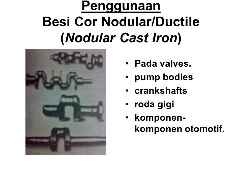 Penggunaan Besi Cor Nodular/Ductile (Nodular Cast Iron)