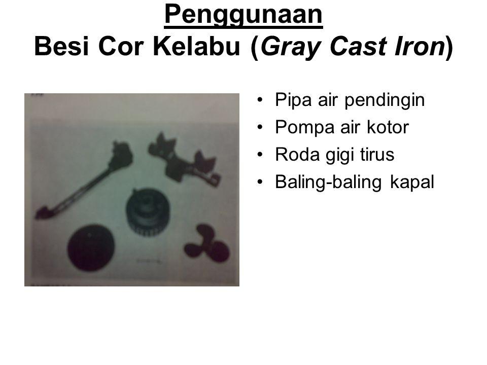 Penggunaan Besi Cor Kelabu (Gray Cast Iron)