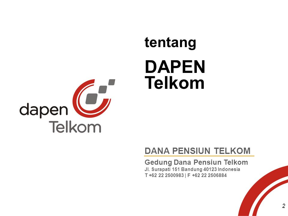 DAPEN Telkom tentang DANA PENSIUN TELKOM Gedung Dana Pensiun Telkom