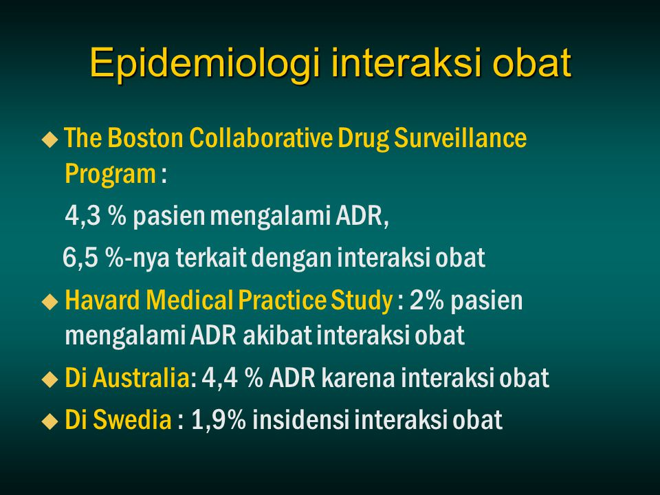 Epidemiologi interaksi obat