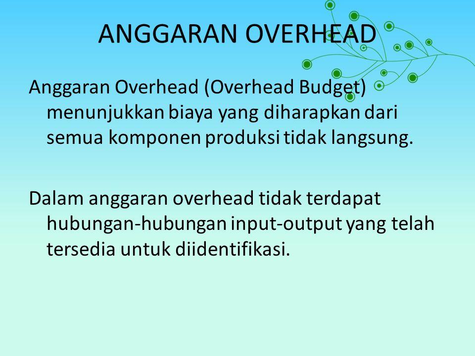 ANGGARAN OVERHEAD