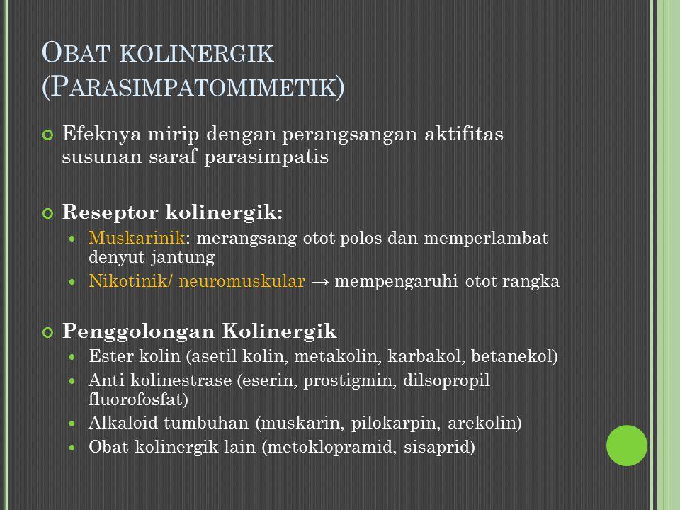 Obat kolinergik (Parasimpatomimetik)