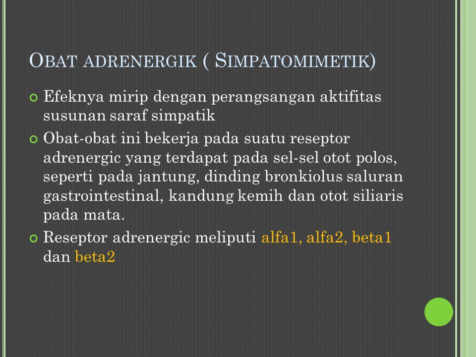 Obat adrenergik ( Simpatomimetik)