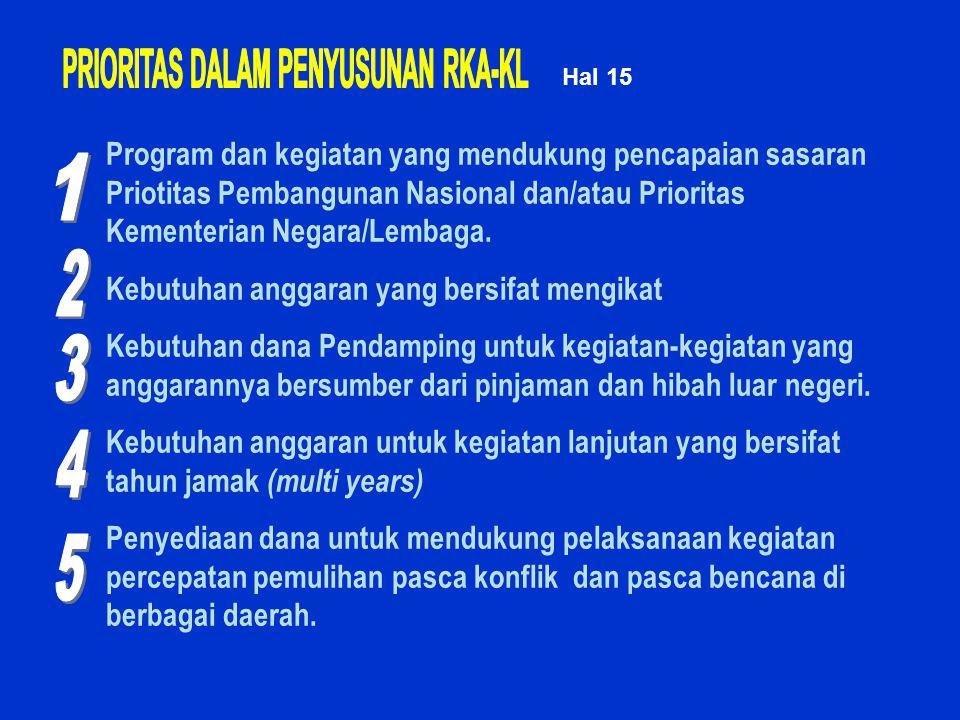 PRIORITAS DALAM PENYUSUNAN RKA-KL