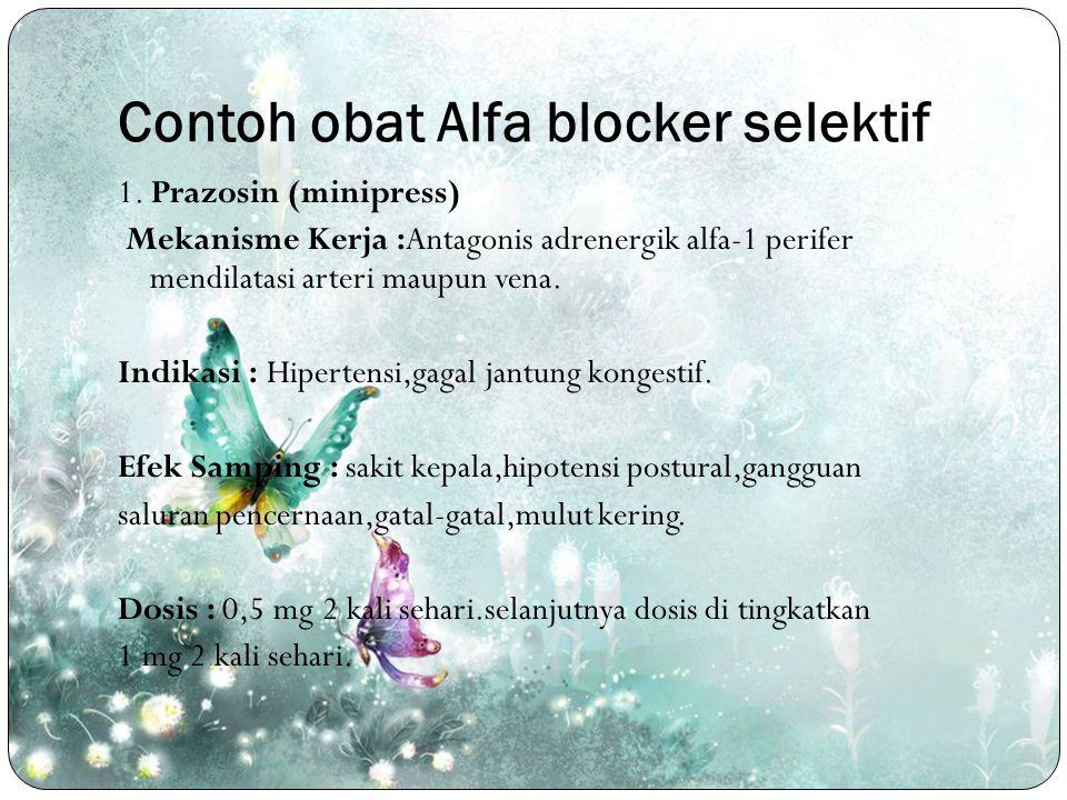 Contoh obat Alfa blocker selektif