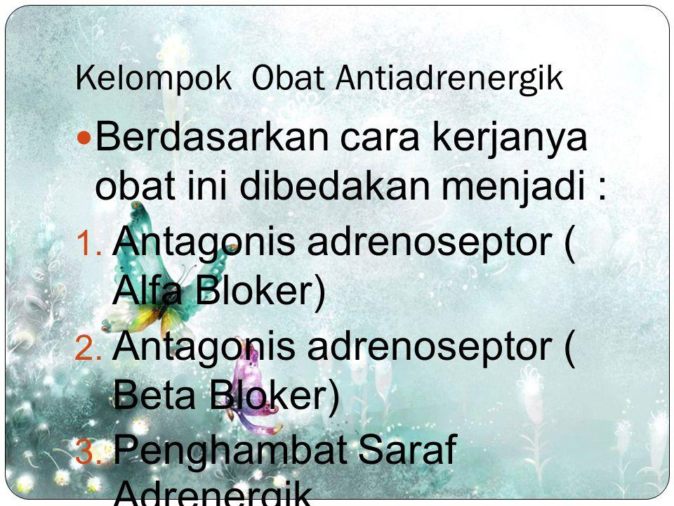 Kelompok Obat Antiadrenergik