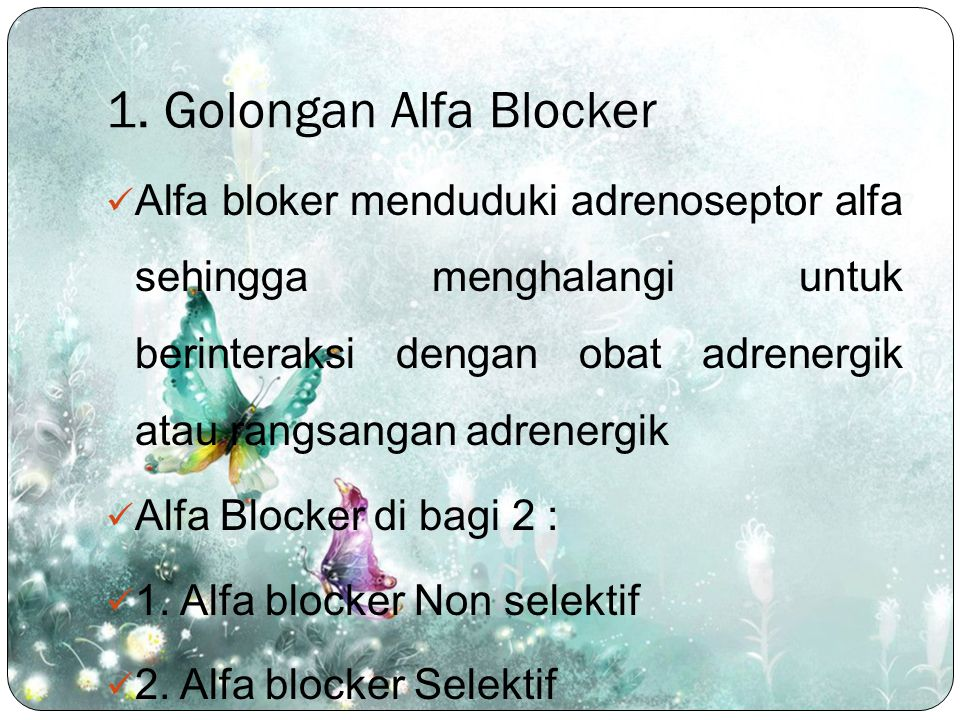 1. Golongan Alfa Blocker