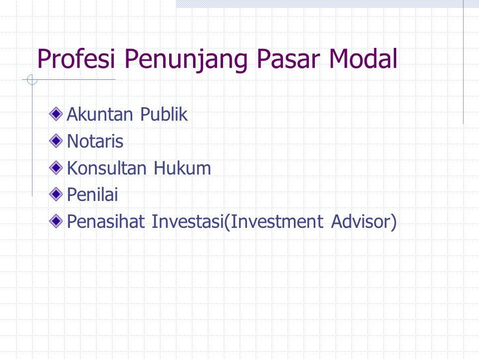 Profesi Penunjang Pasar Modal