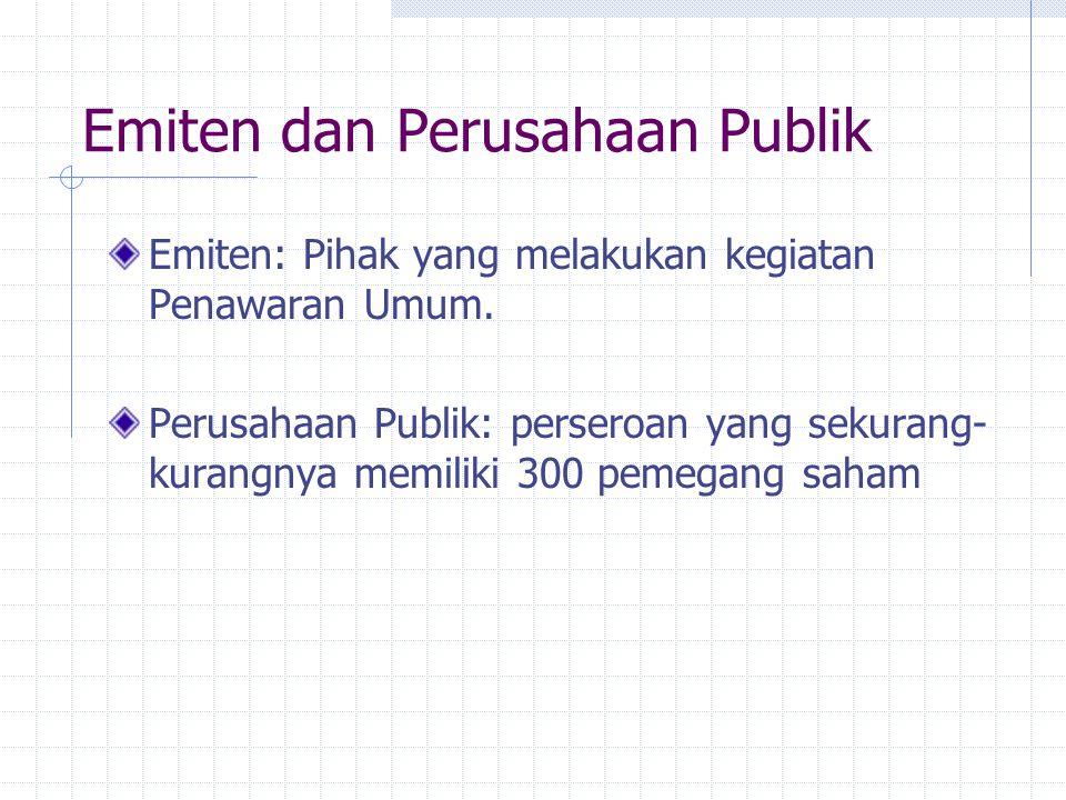 Emiten dan Perusahaan Publik