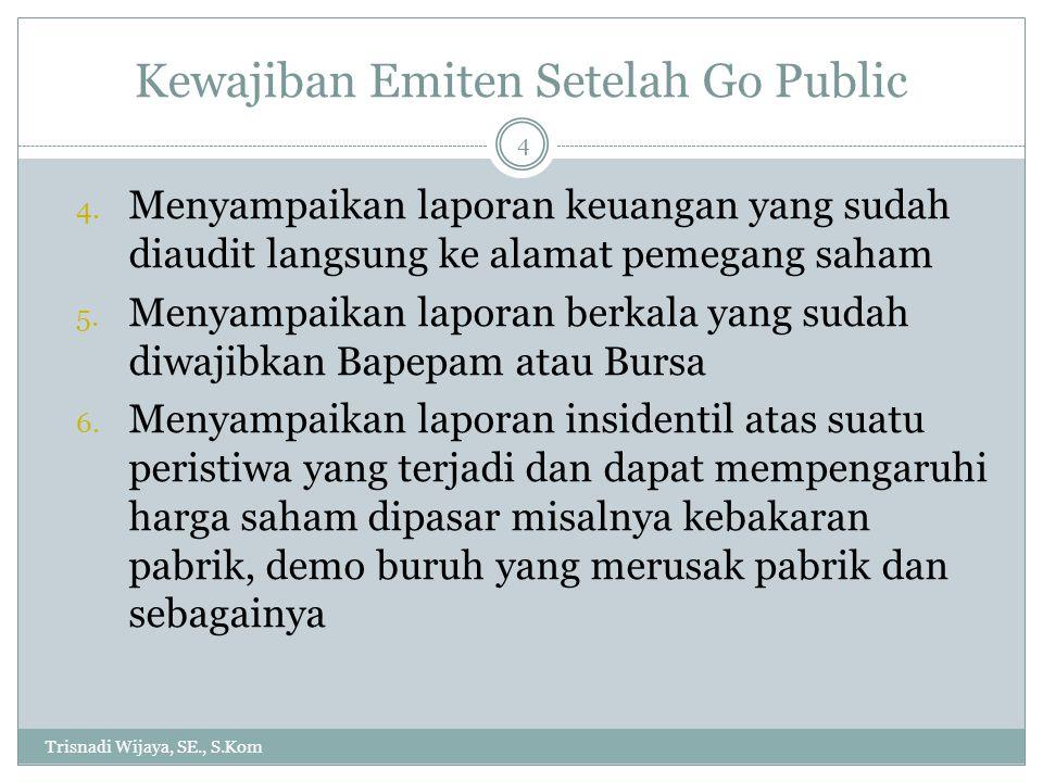 Kewajiban Emiten Setelah Go Public