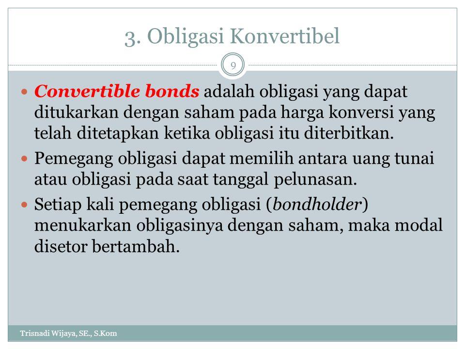 3. Obligasi Konvertibel