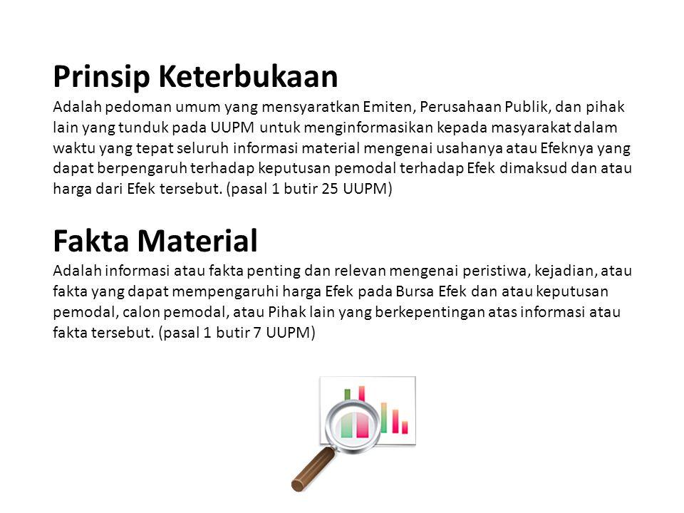 Prinsip Keterbukaan Fakta Material