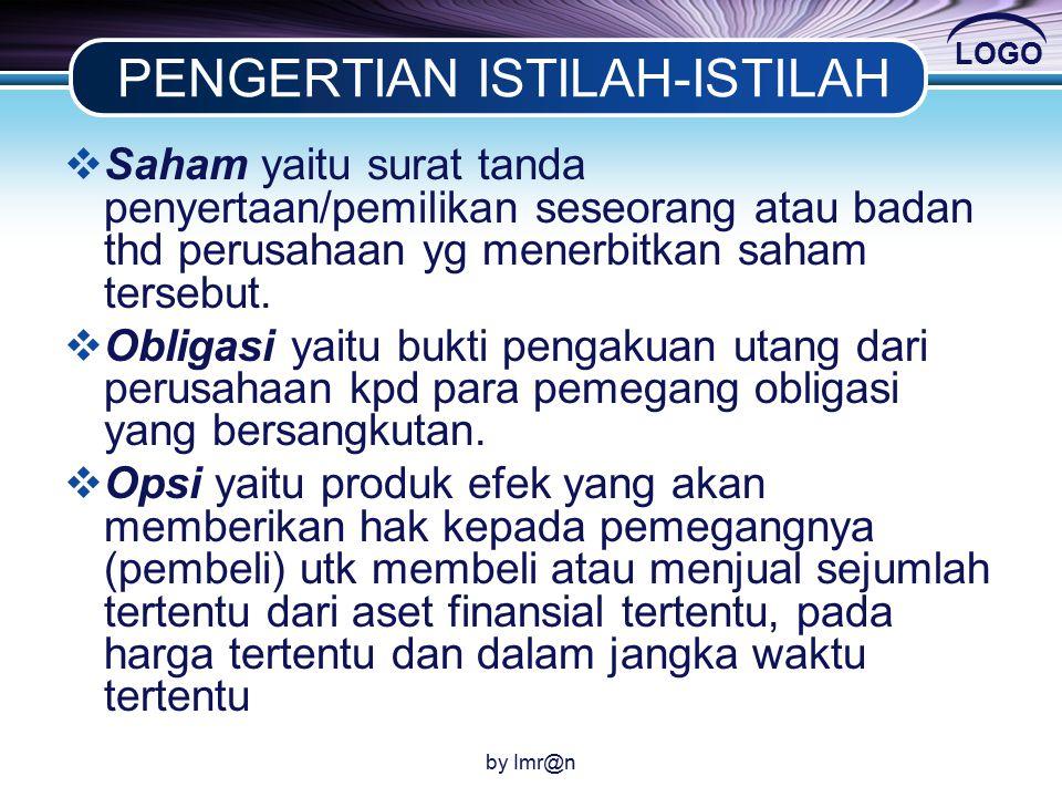 PENGERTIAN ISTILAH-ISTILAH