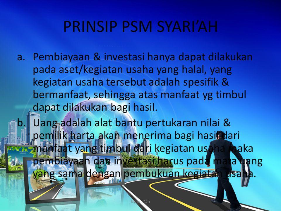 PRINSIP PSM SYARI'AH