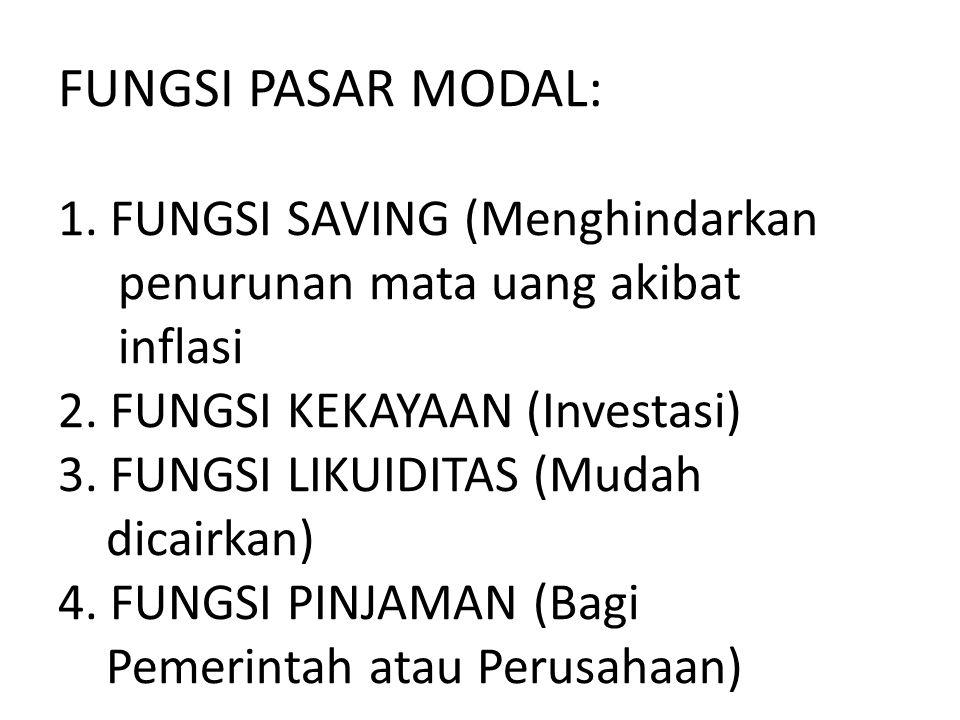 FUNGSI PASAR MODAL: 1.