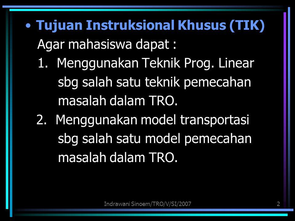 Indrawani Sinoem/TRO/V/SI/2007