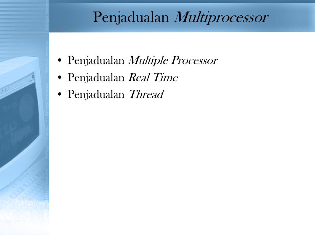Penjadualan Multiprocessor