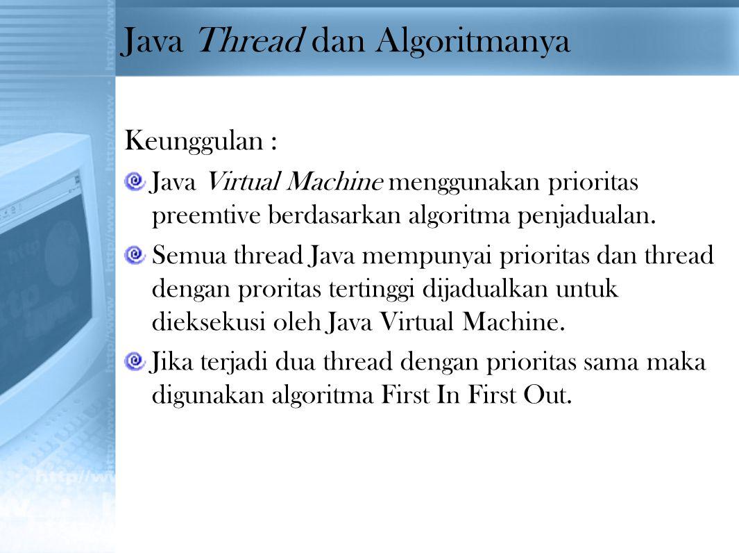 Java Thread dan Algoritmanya