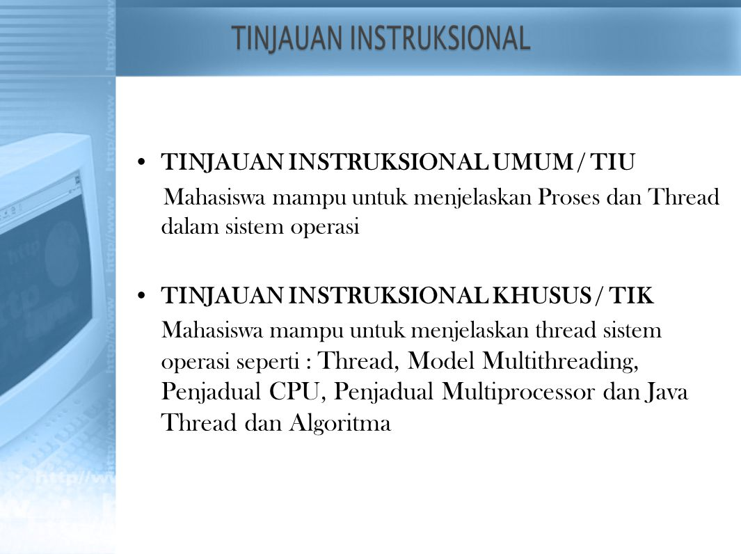 TINJAUAN INSTRUKSIONAL UMUM / TIU