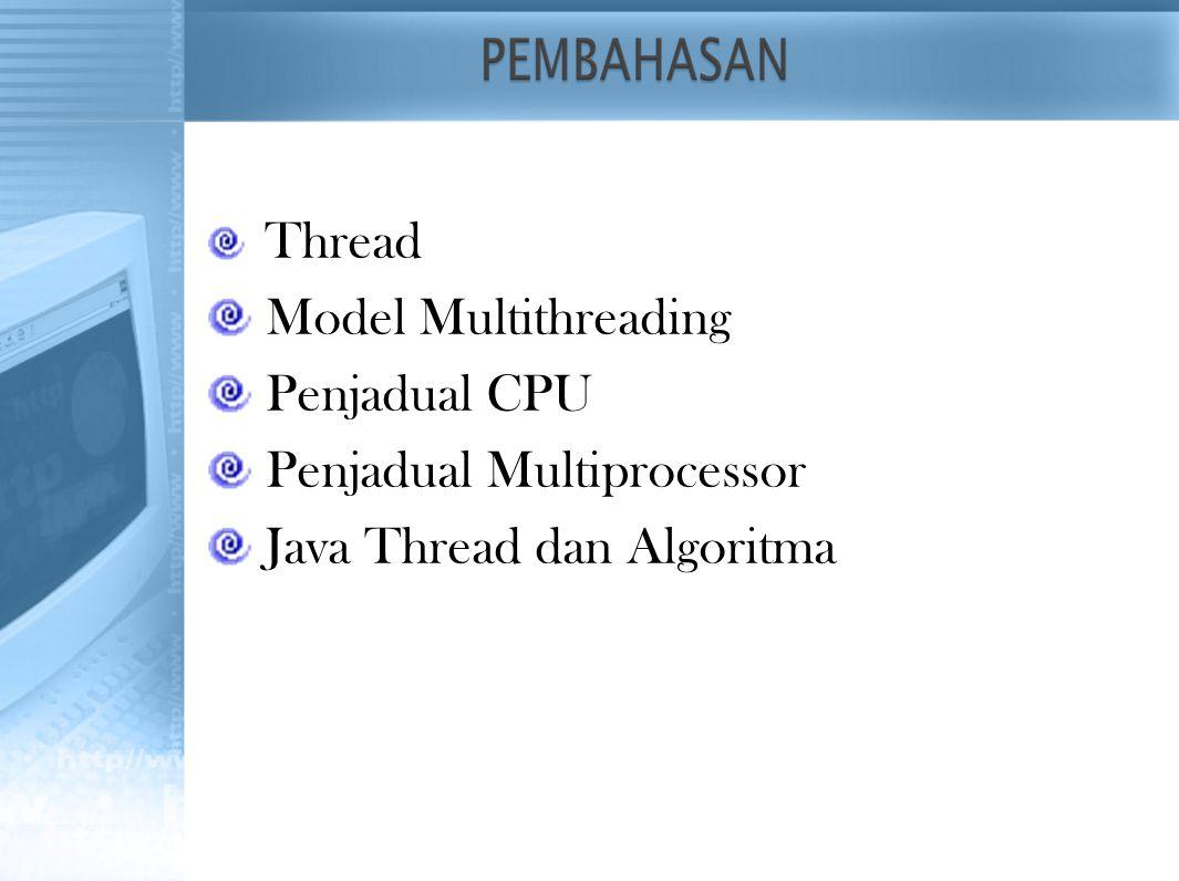 Penjadual Multiprocessor Java Thread dan Algoritma