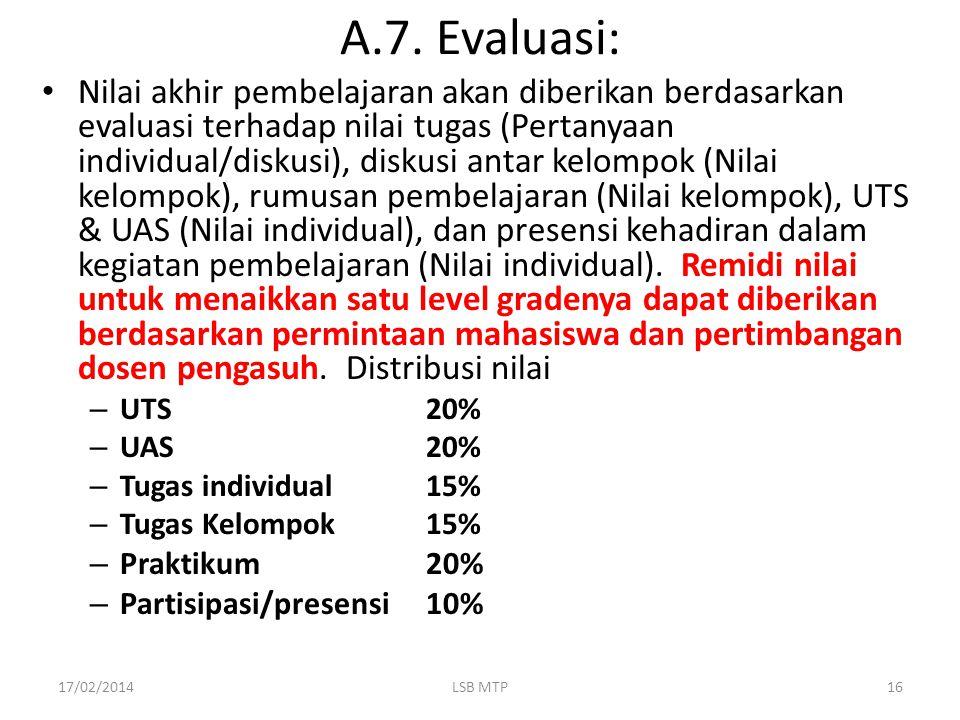 A.7. Evaluasi: