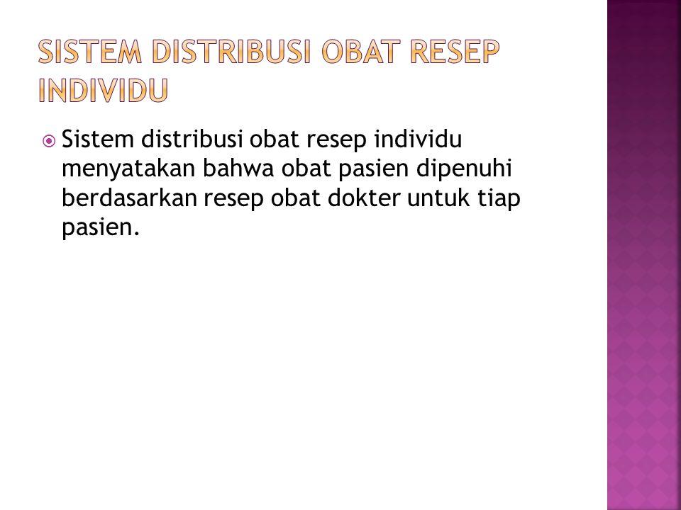 Sistem distribusi obat resep individu
