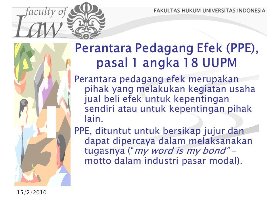 Perantara Pedagang Efek (PPE), pasal 1 angka 18 UUPM