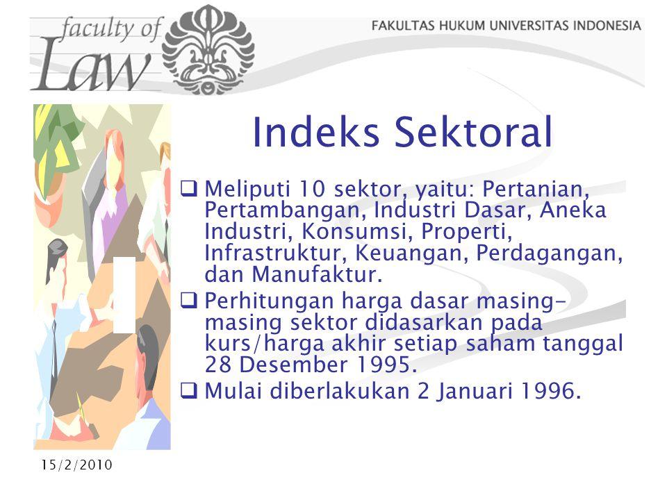 Indeks Sektoral