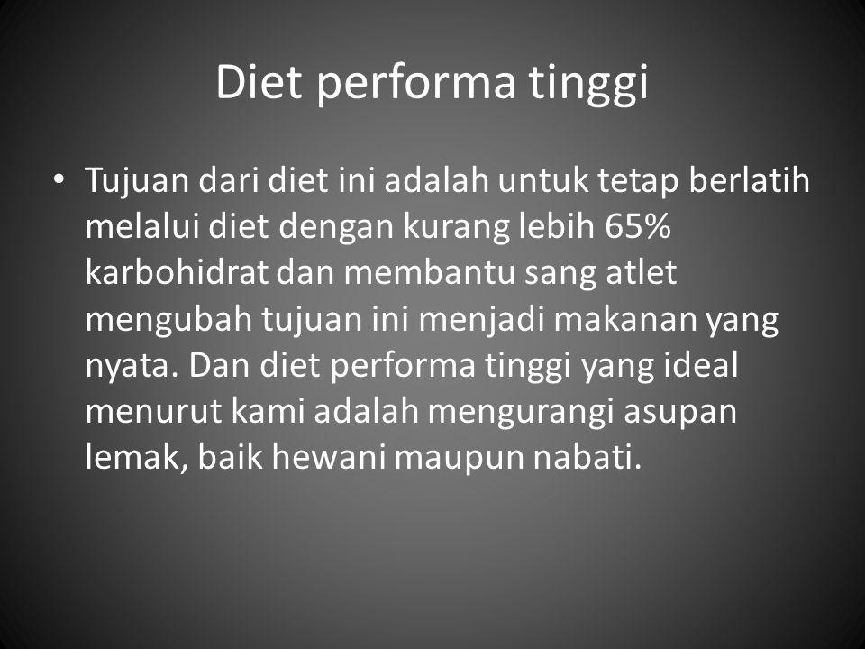 Diet performa tinggi