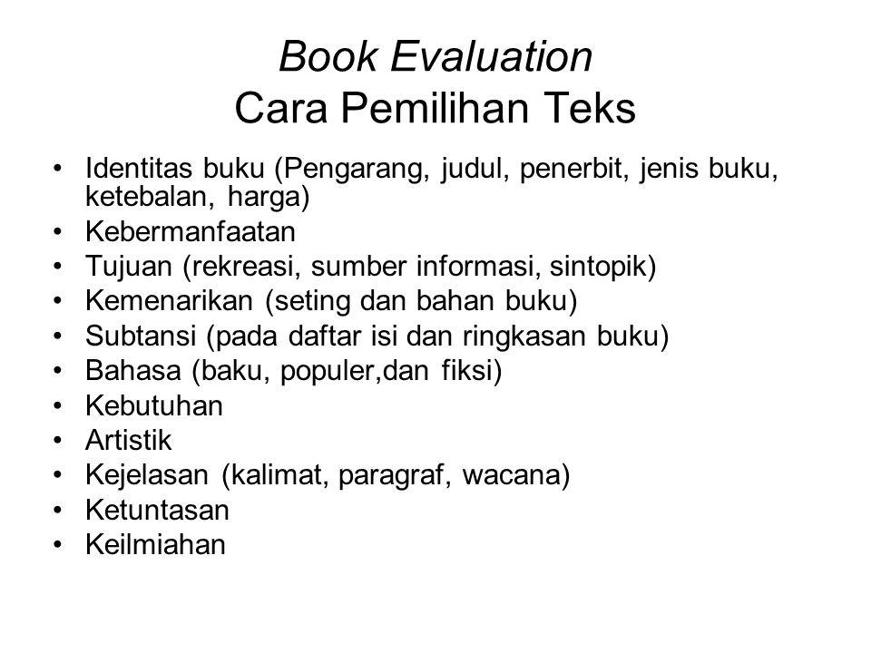 Book Evaluation Cara Pemilihan Teks