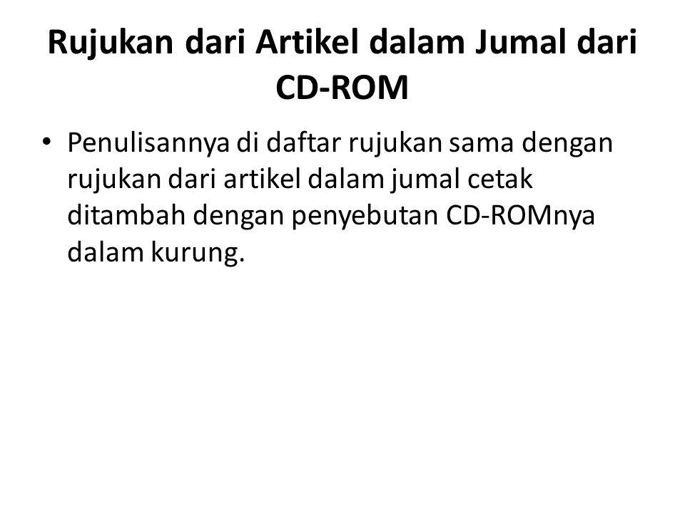 Rujukan dari Artikel dalam Jumal dari CD-ROM