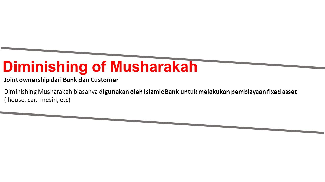 Diminishing of Musharakah