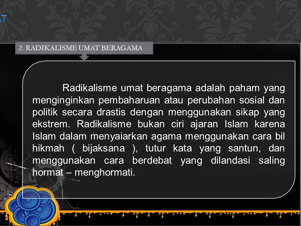 JIHAD, RADIKALISME UMAT BERAGAMA DAN MUSLIM MODERAT