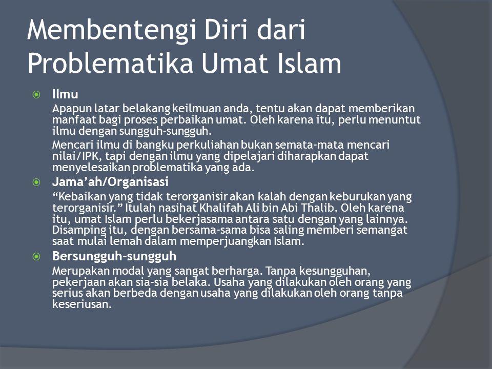 Membentengi Diri dari Problematika Umat Islam