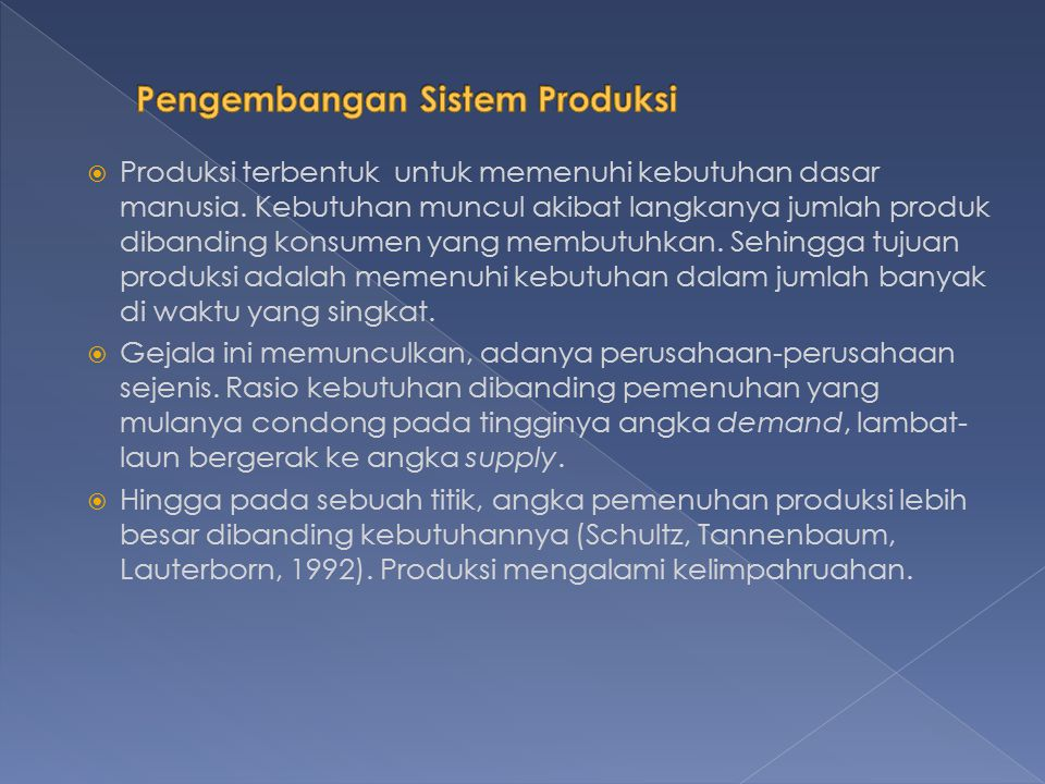Pengembangan Sistem Produksi
