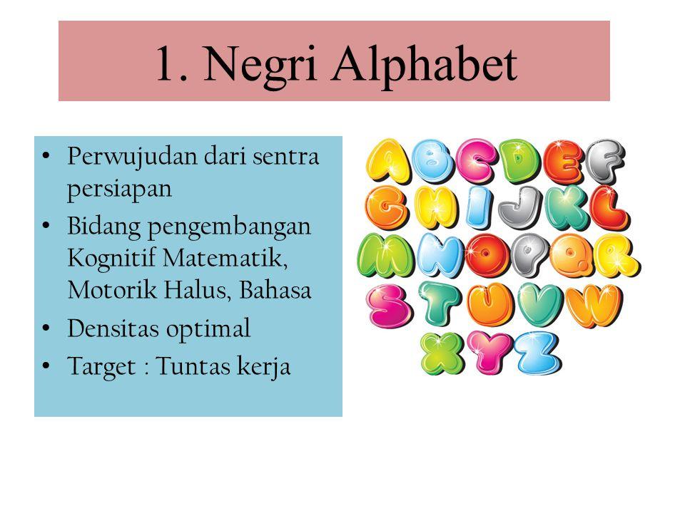 1. Negri Alphabet Perwujudan dari sentra persiapan