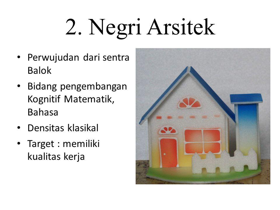 2. Negri Arsitek Perwujudan dari sentra Balok